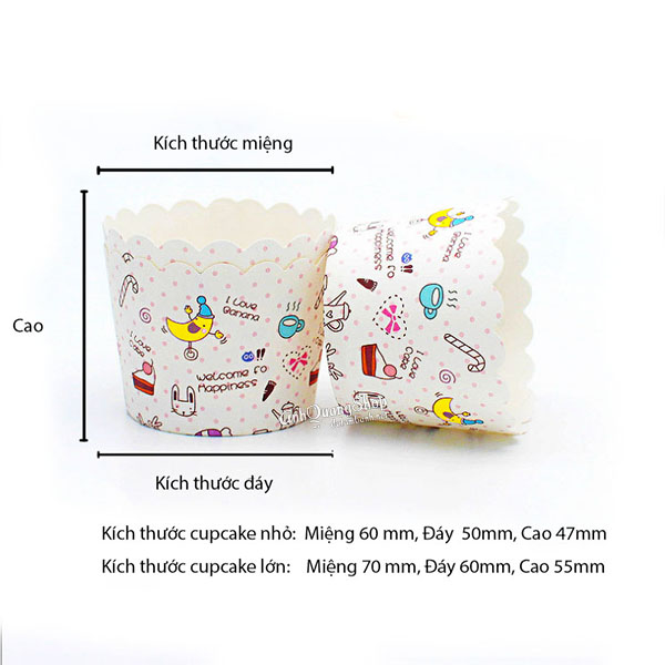 Cupcake Chuoi 3 Kich Thuoc Fn