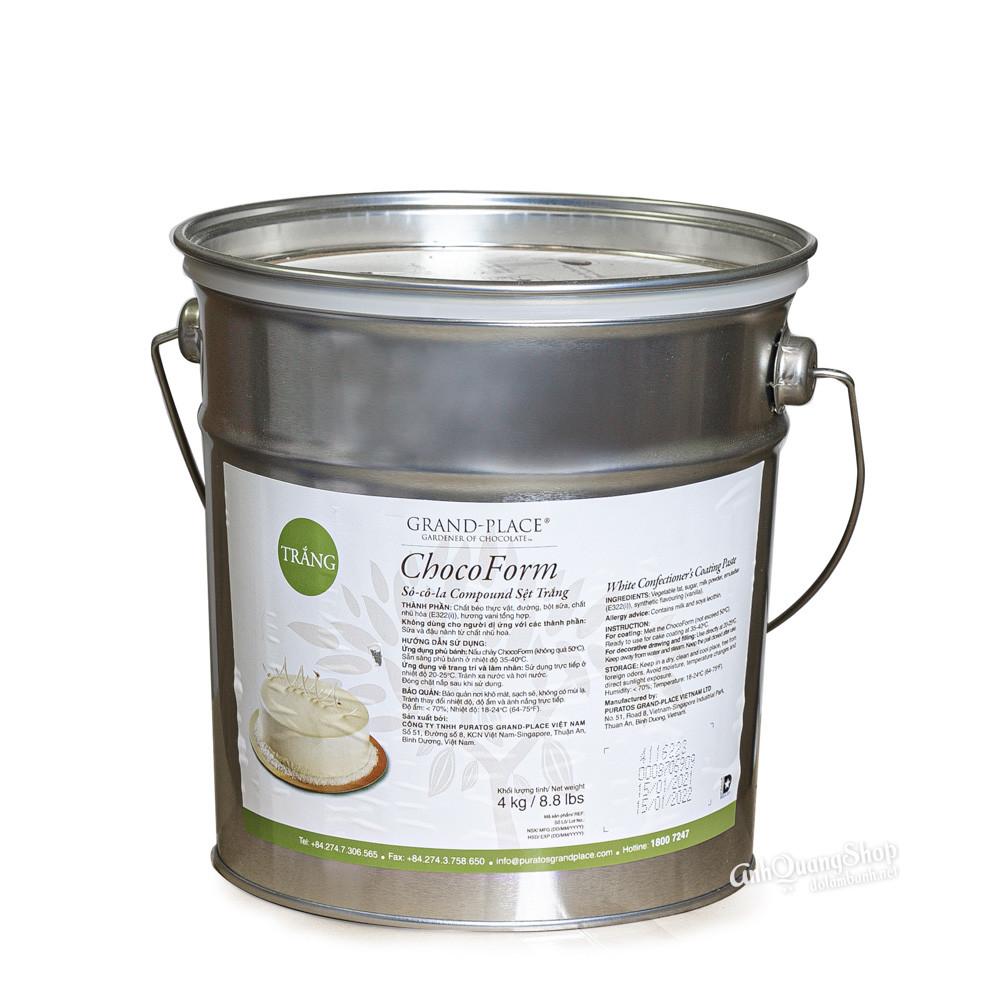 Socola compound set trang puratos 4kg